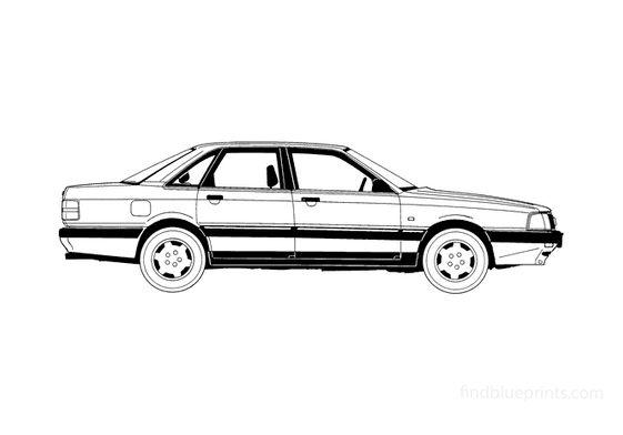 Audi 200 C3 Sedan 1990