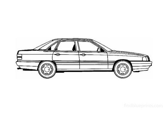 Audi 200 Turbo Quattro Sedan 1987