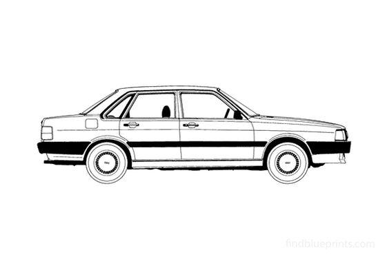 Audi 80 B2 4-door Sedan 1985