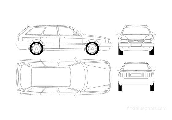 Audi 80 B3 Avant Wagon 1987
