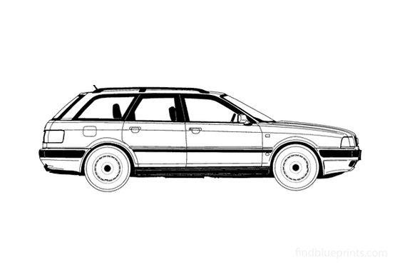 Audi 80 B4 Avant Wagon 1992