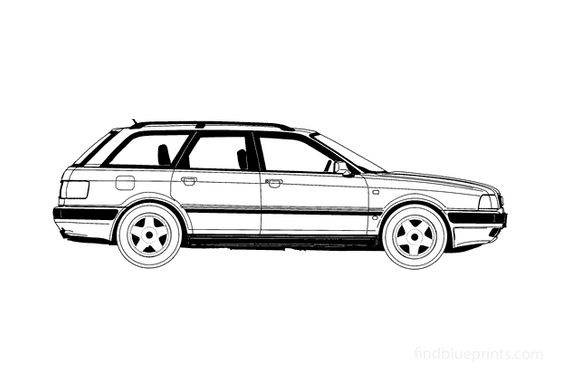Audi 80 B4 Avant Wagon 1994