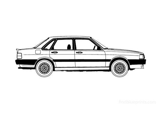 Audi 80 GTE 4-door Sedan 1986