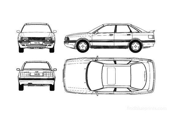 Audi 90 Sedan 1990