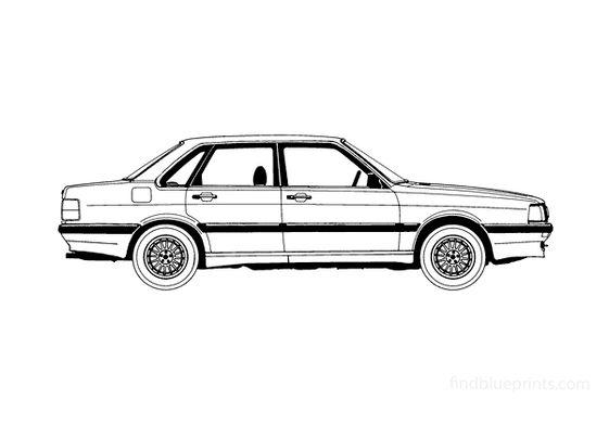 Audi 90 B2 Sedan 1986