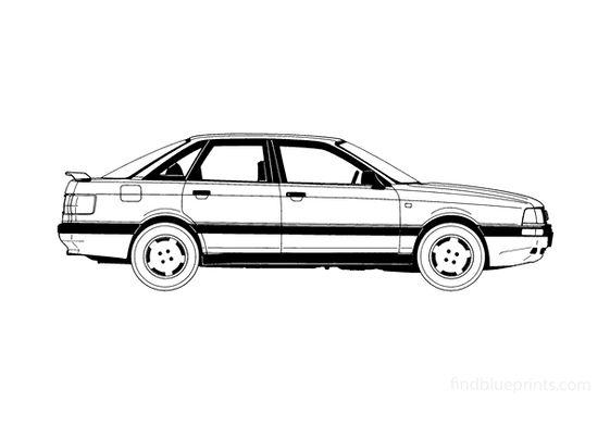 Audi 90 B3 Sedan 1988
