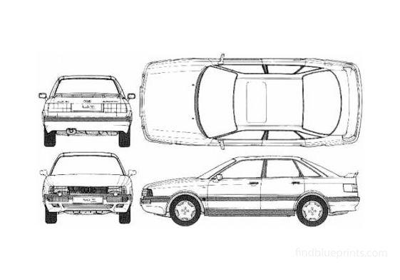 Audi 90 Quattro 20v Sedan 1989