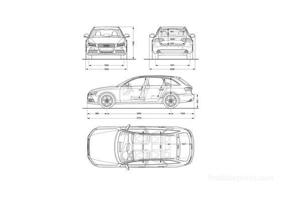 Audi A4 (Typ 8E) Avant Wagon 2009