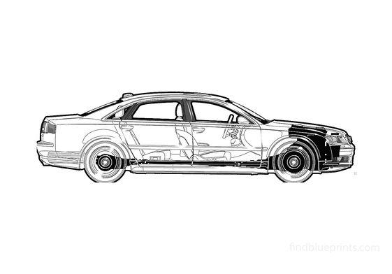Audi A8 D3 (Typ 4E) L Sedan 2004