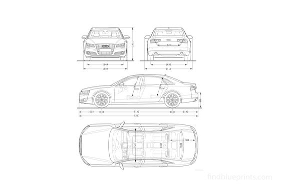 Audi A8L Sedan 2010