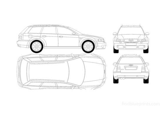 Audi RS4 B5 (Typ 8D) Avant Quattro Wagon 2000