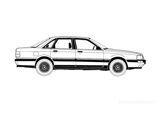 Audi V8 C3 Sedan 1989
