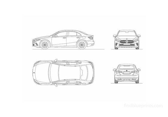 Mercedes-Benz V177 A-Class Sedan 2018
