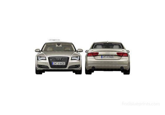 Audi A8 D4 Sedan 2010