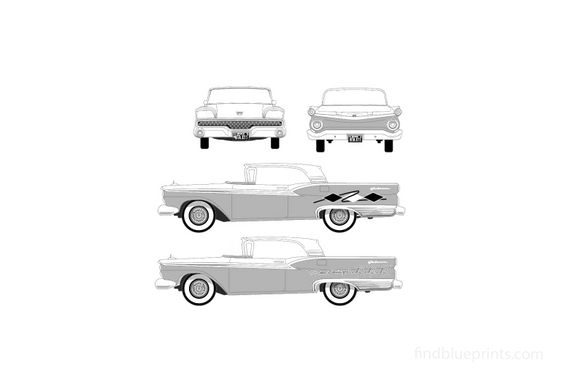 Ford Galaxie Skyliner Coupe 1959