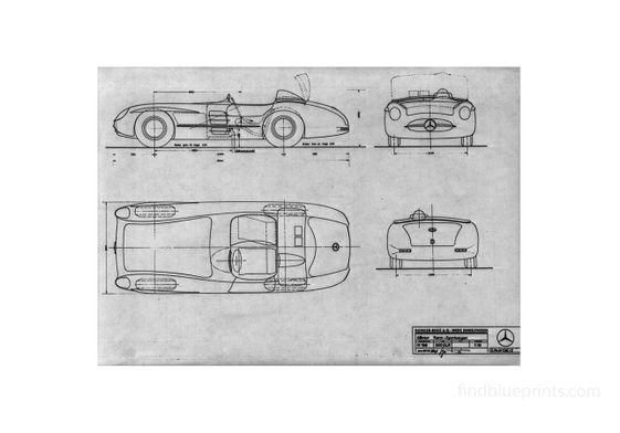 Mercedes Benz W196 Silberpfeil  1955