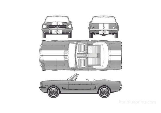 Ford Mustang Convertible Cabriolet 1964