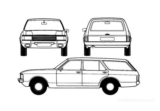 Ford Granada Mk I Estate Wagon 1972